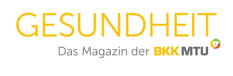"""Logo des BKK MTU Magazins """"Gesundheit"""""""