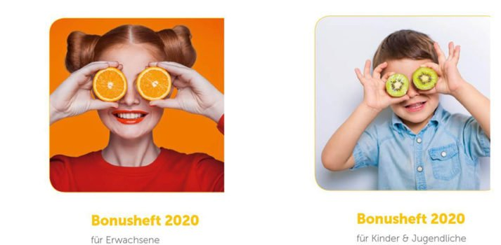 Bonusheft 2020 Erwachsene und Kinder