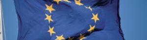 EU Flagge die im Wind weht